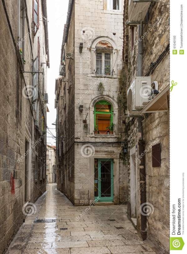 Empty Alley At Splits Old Town Royalty-Free Stock Photo ...