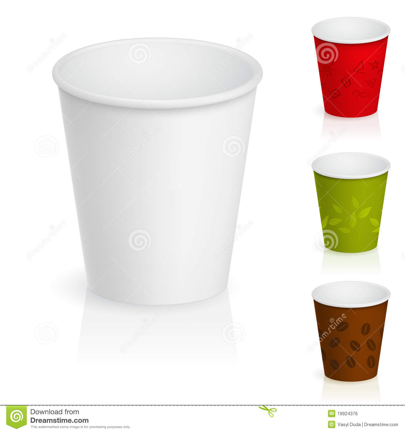 Empty Cardboard Coffee Cups Royalty Free Stock Image