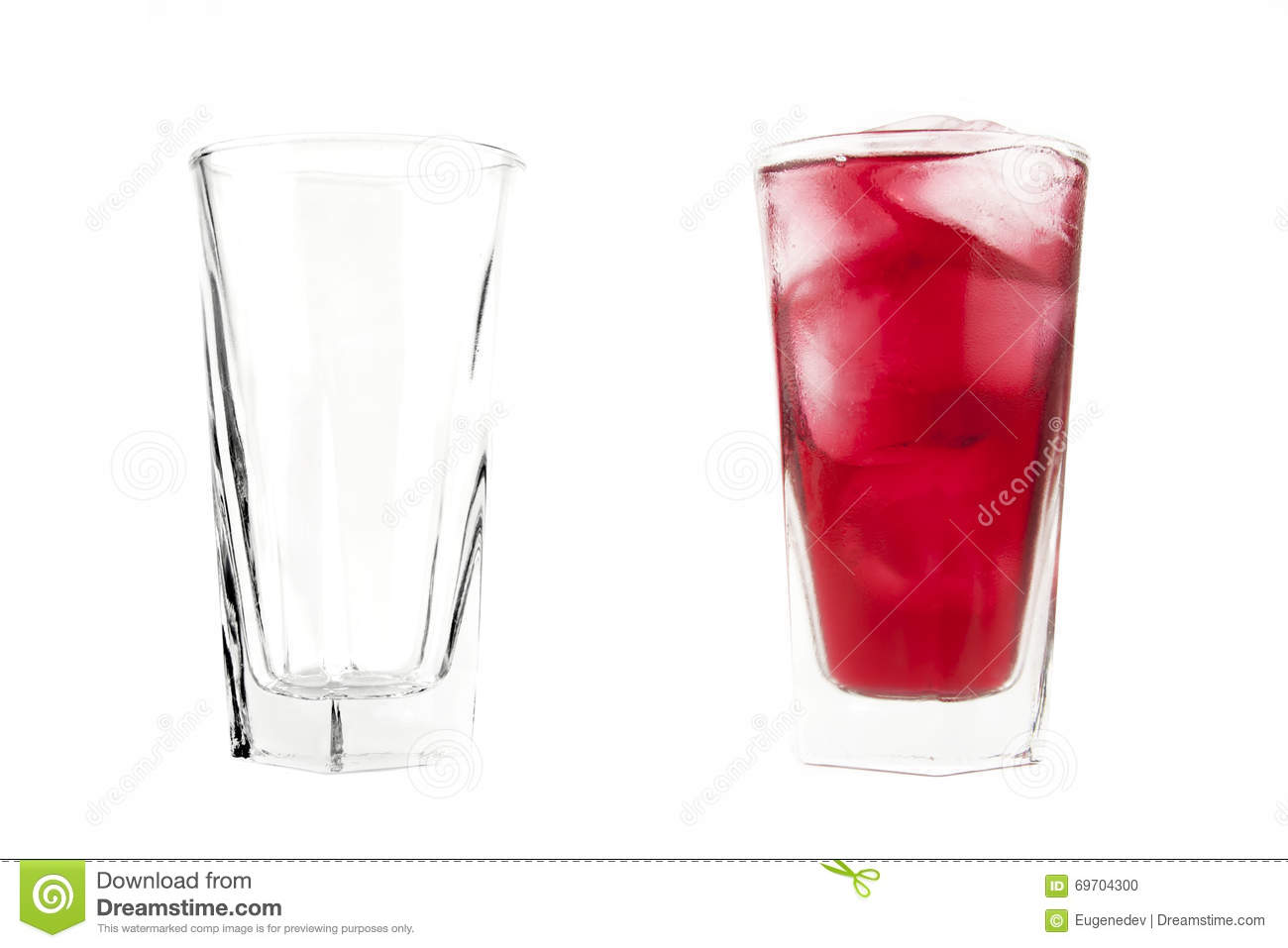 Empty And Full Glasses Stock Photo Image Of Concept