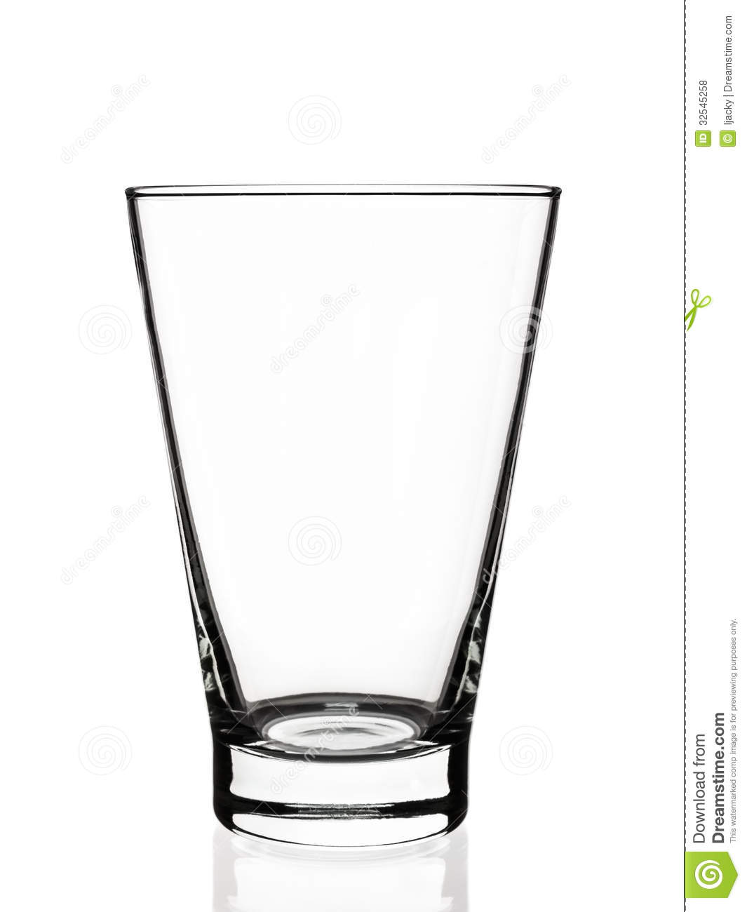 Empty Glass Stock Photo Image Of Cocktail Reflection