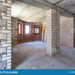 Empty Interior In House Without Repair With White Silicate Brick Walls Stock Image Image Of Flooring Construction 148319817