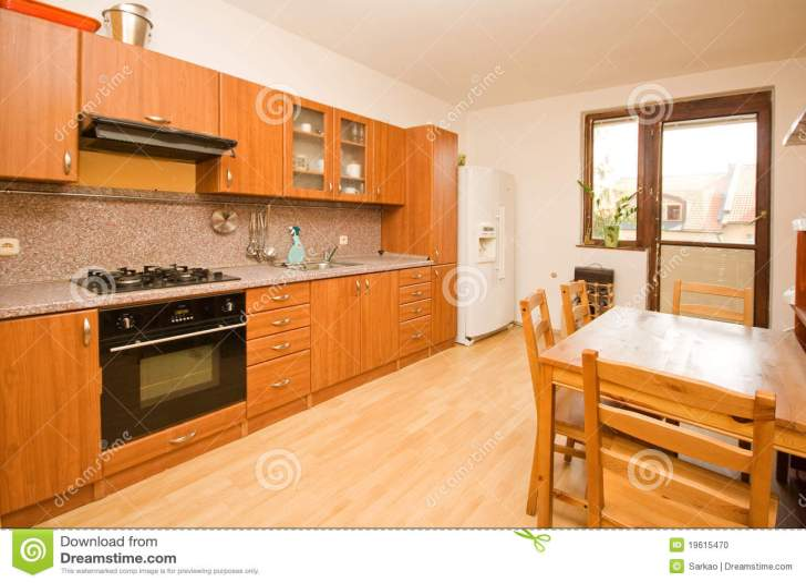 Empty Kitchen Stock
