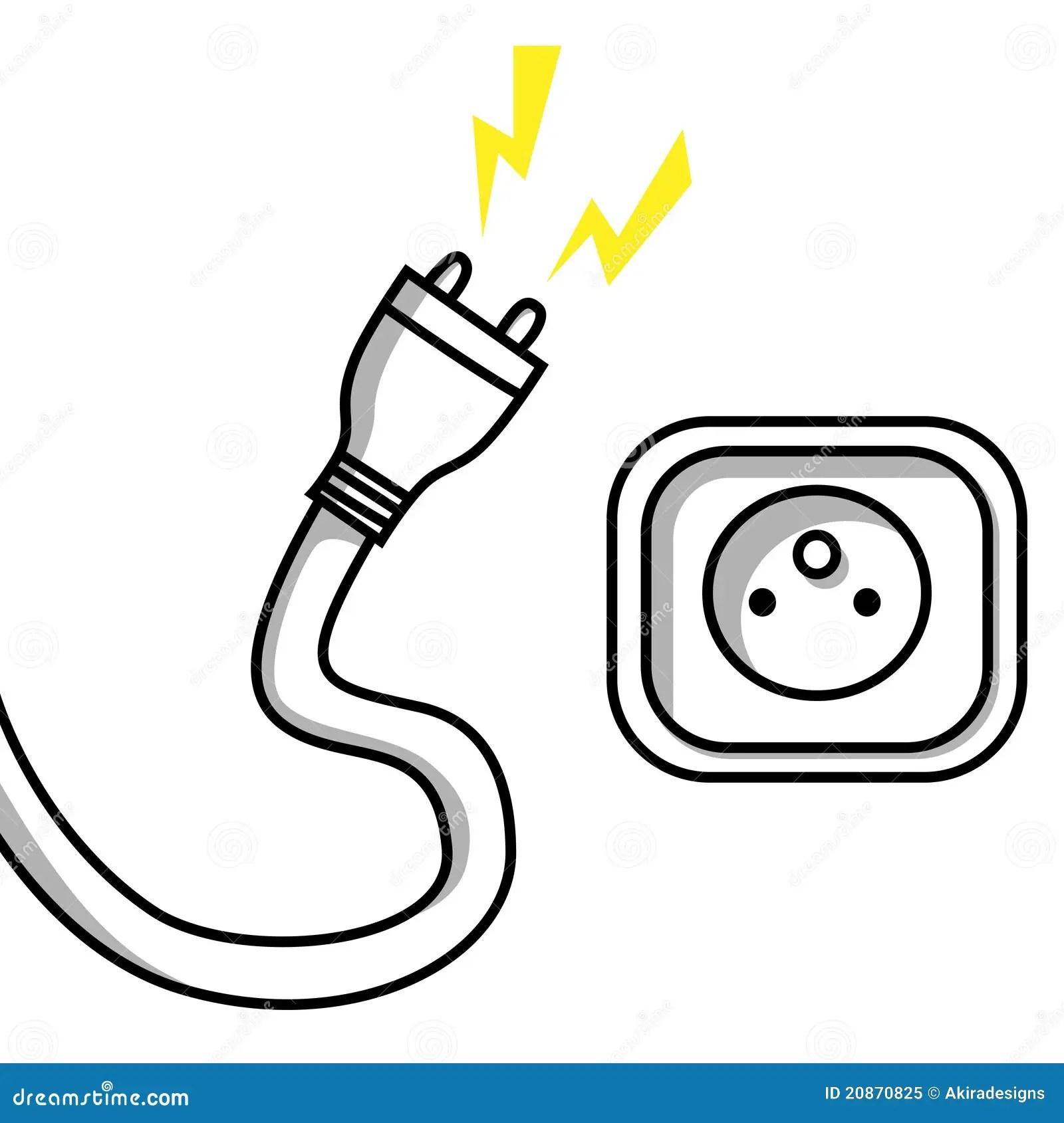Enchufe Y Socket Ilustracion Del Vector Ilustracion De