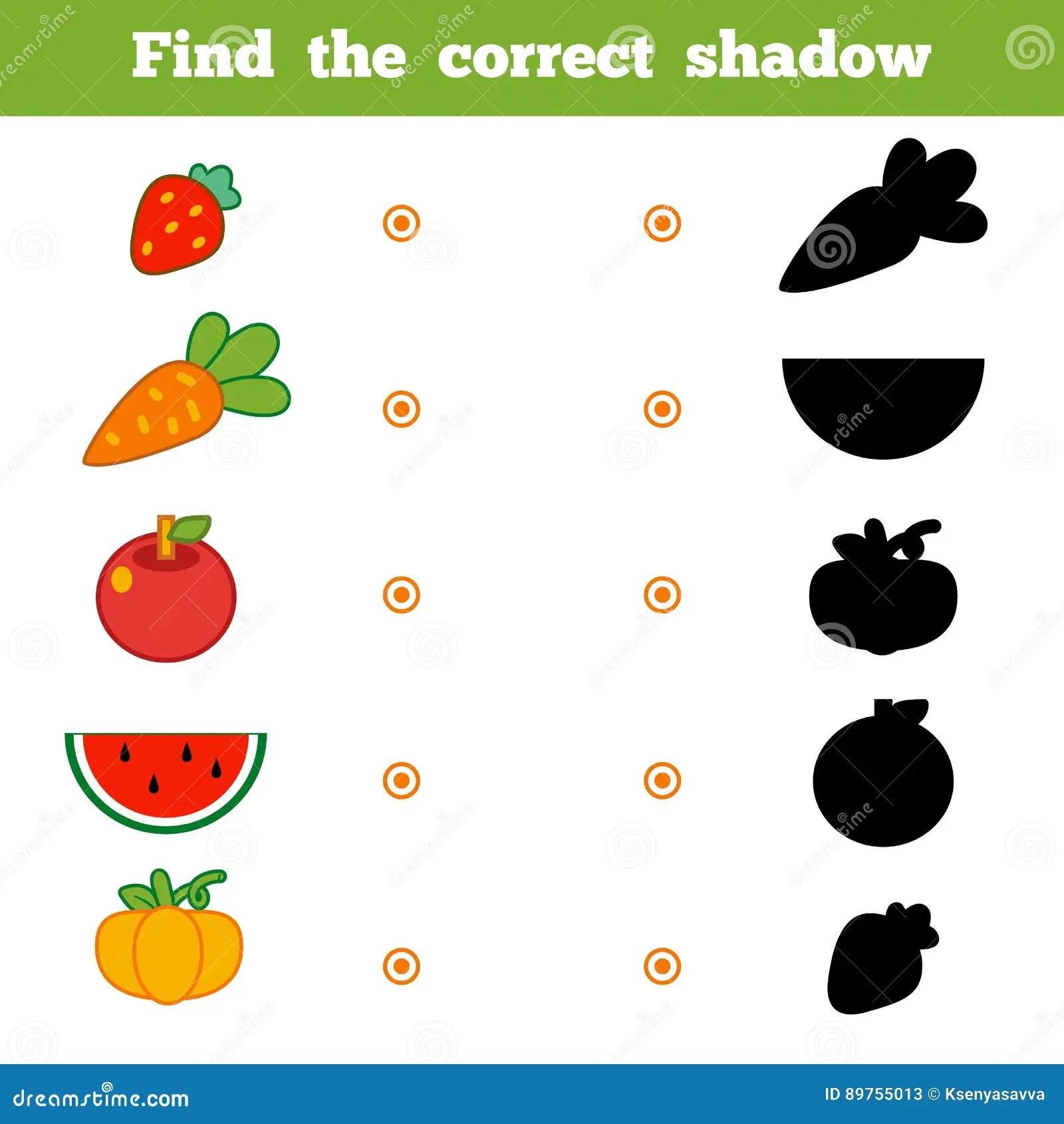 Encuentre La Sombra Correcta Juego Para Los Ninos Sistema