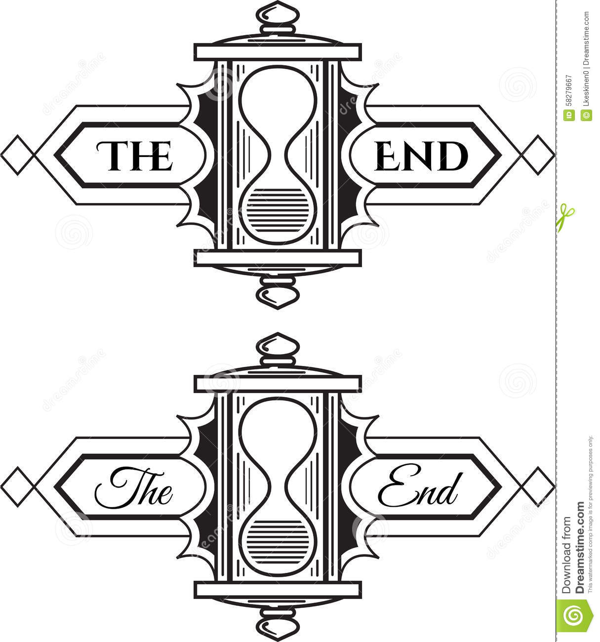 The End Stock Vector