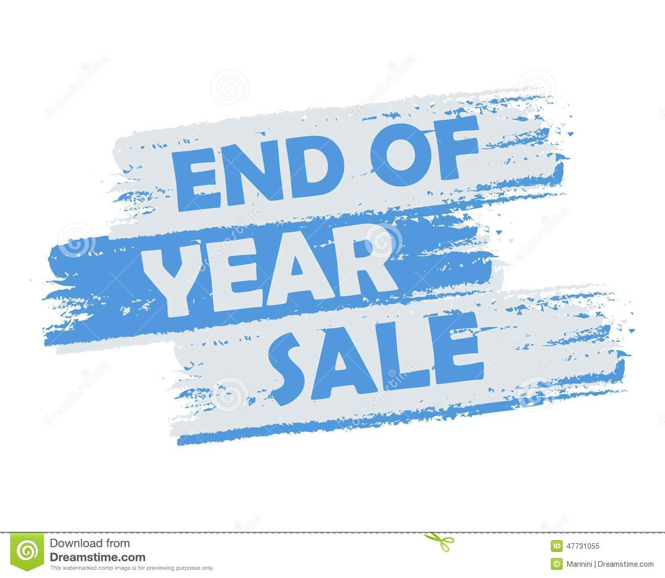 End Of Year Sale Stock Illustration Illustration Of