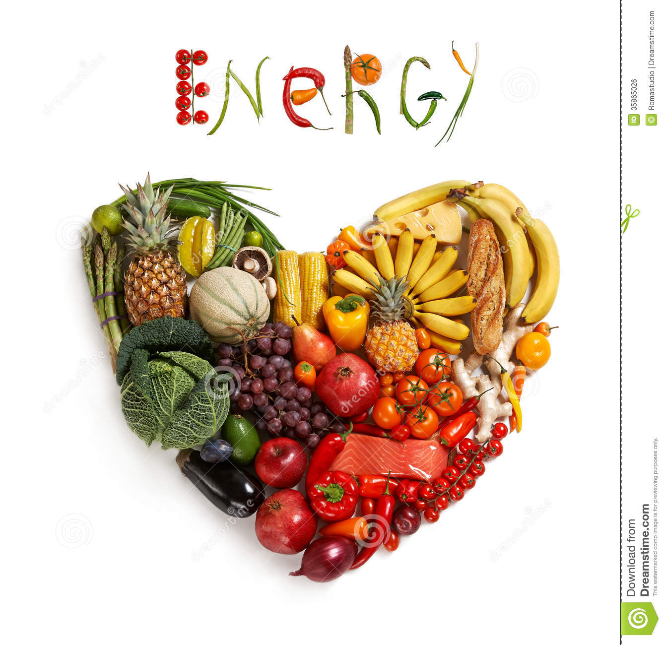Energy Food Choice Stock Photo Image Of Different