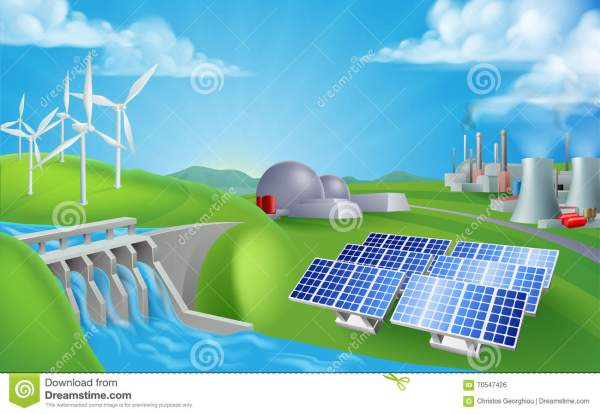 Energy Power Generation Sources Stock Vector ...