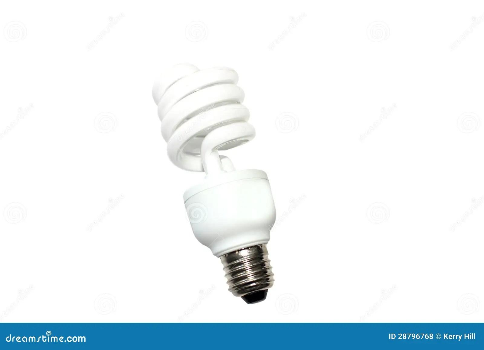 Energy Saving Light Bulb Globe Stock Photo