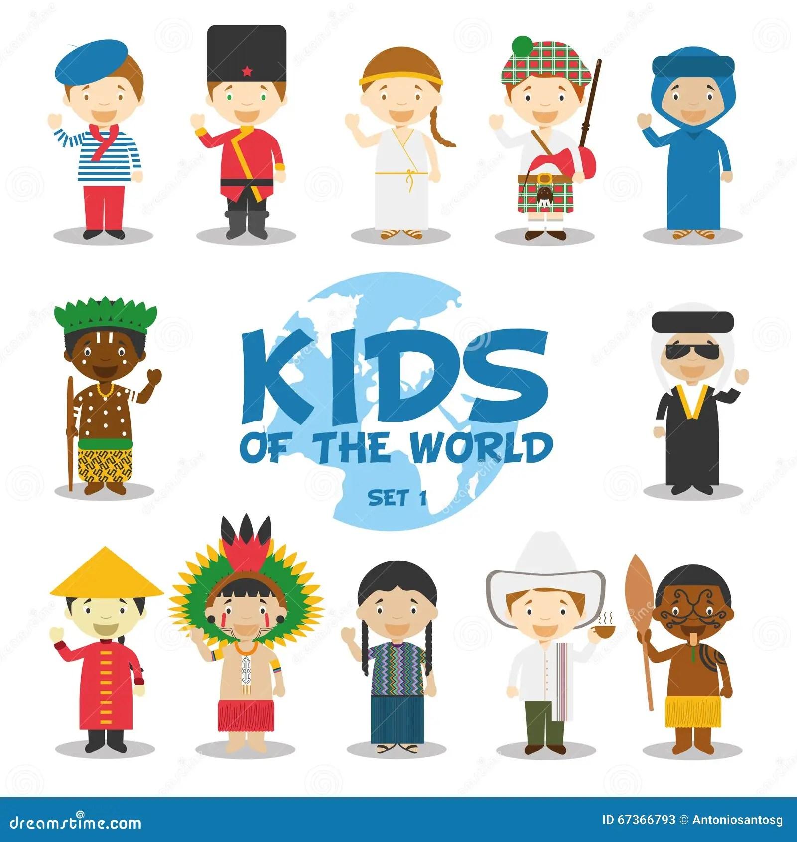 Enfants De L Illustration Du Monde Les Nationalites Ont