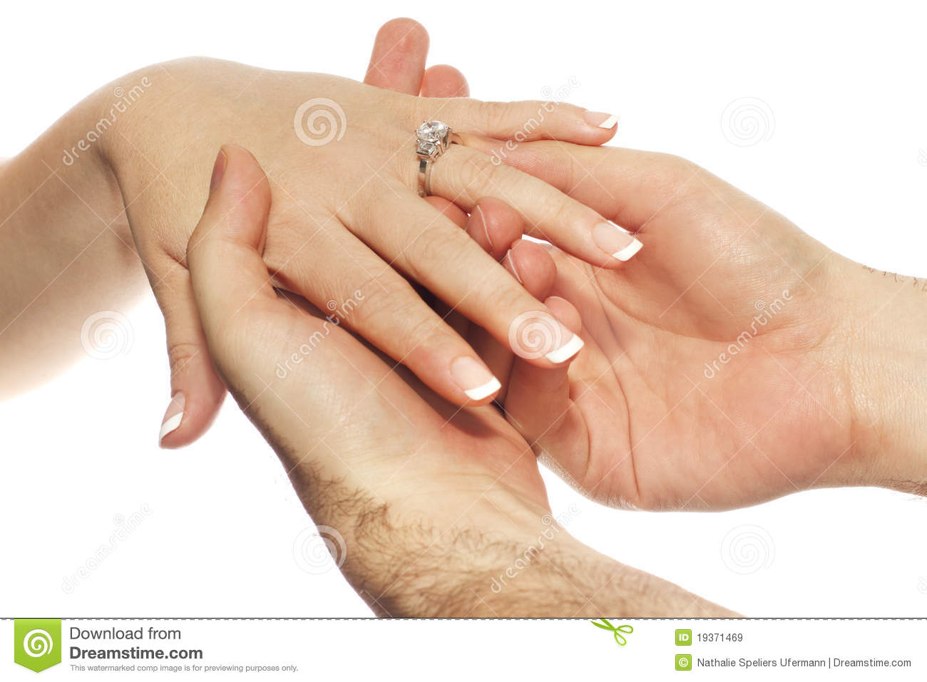 Engagement Ring Placement Royalty Free Stock Images