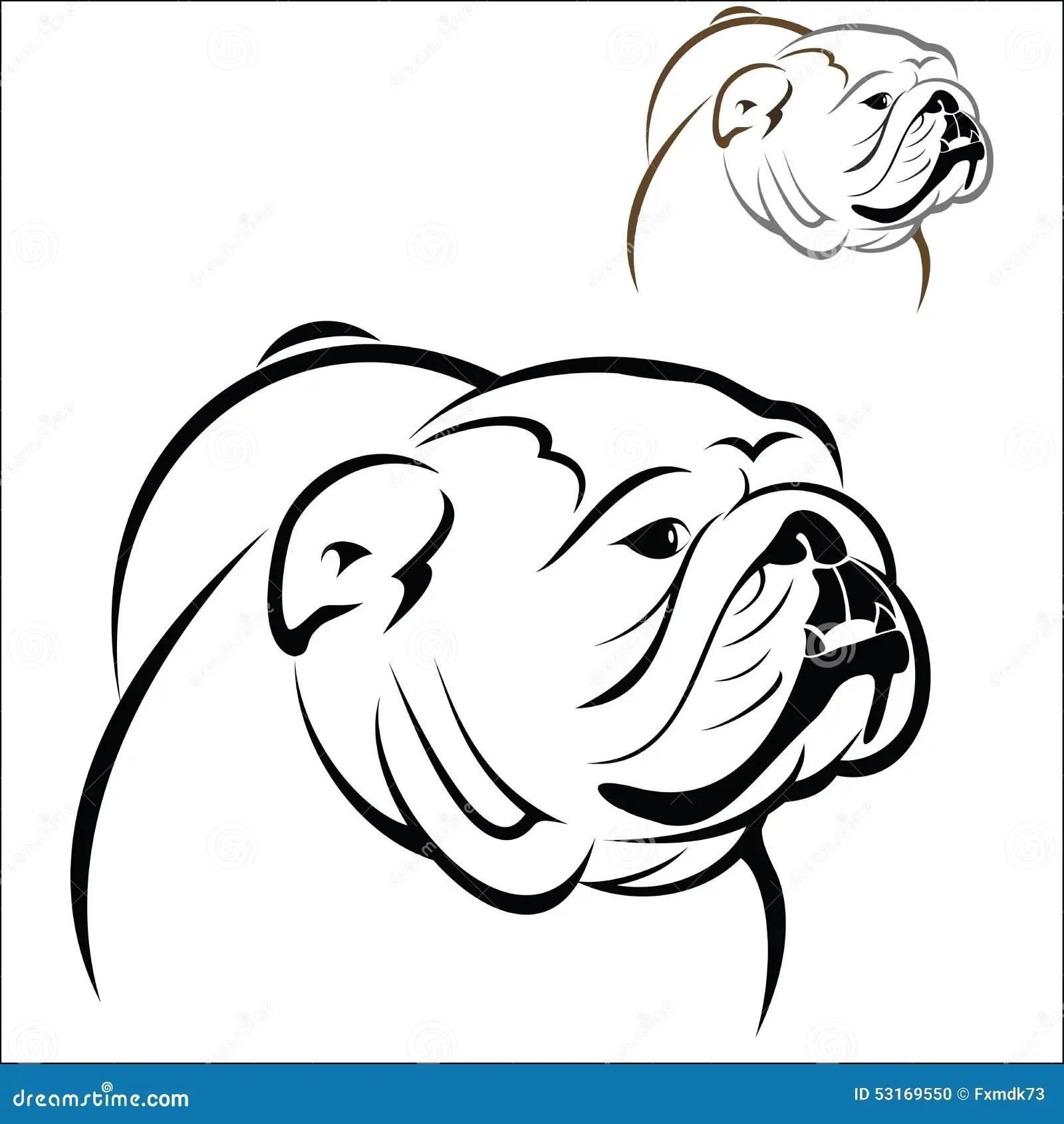 English Bulldog Stock Vector