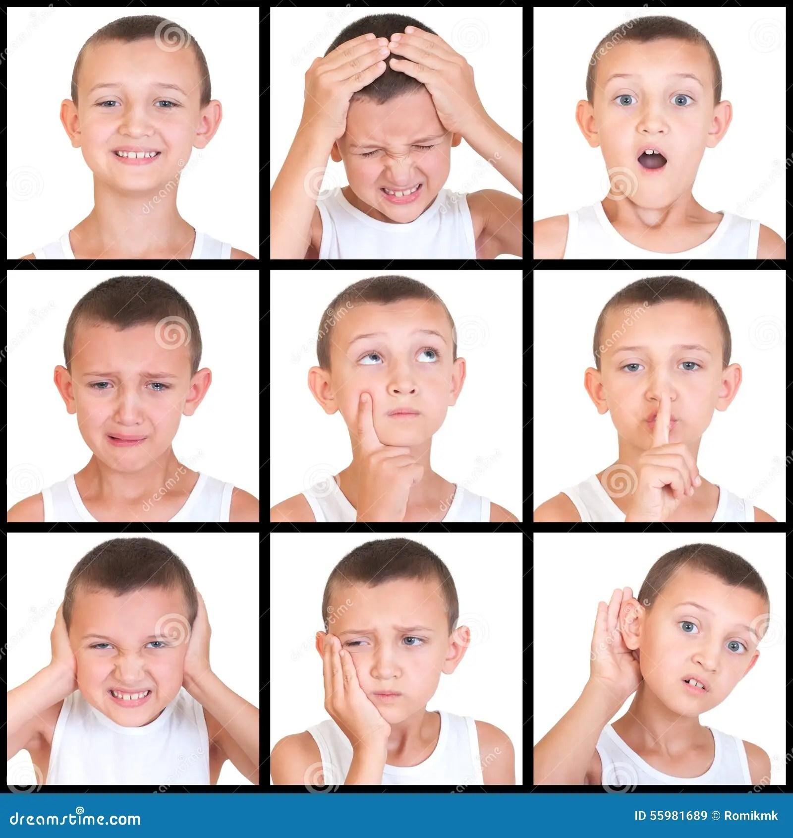 Ensemble D Enfant D Emotions Photo Stock