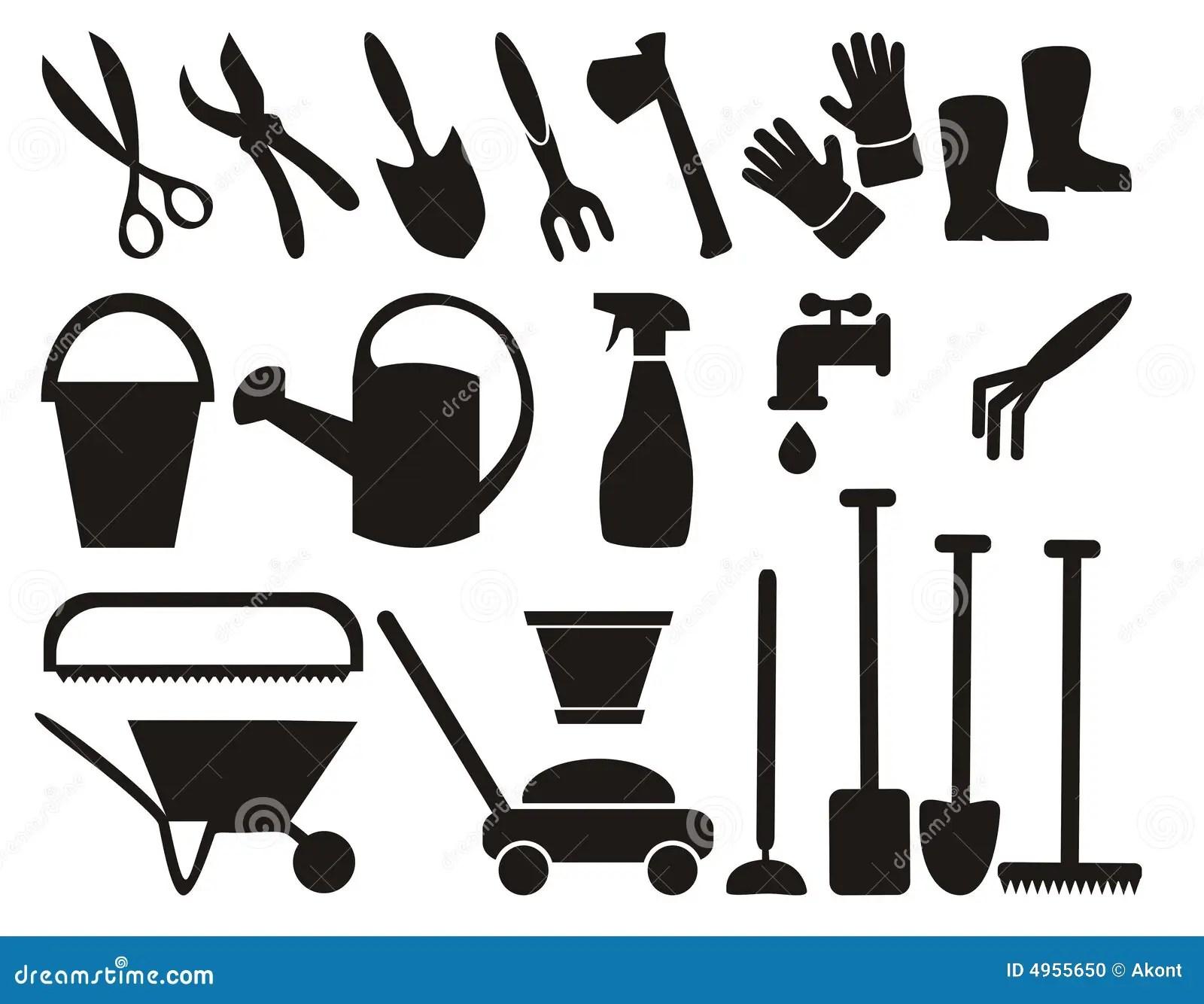 Ensemble D Outils De Jardinage Illustration De Vecteur