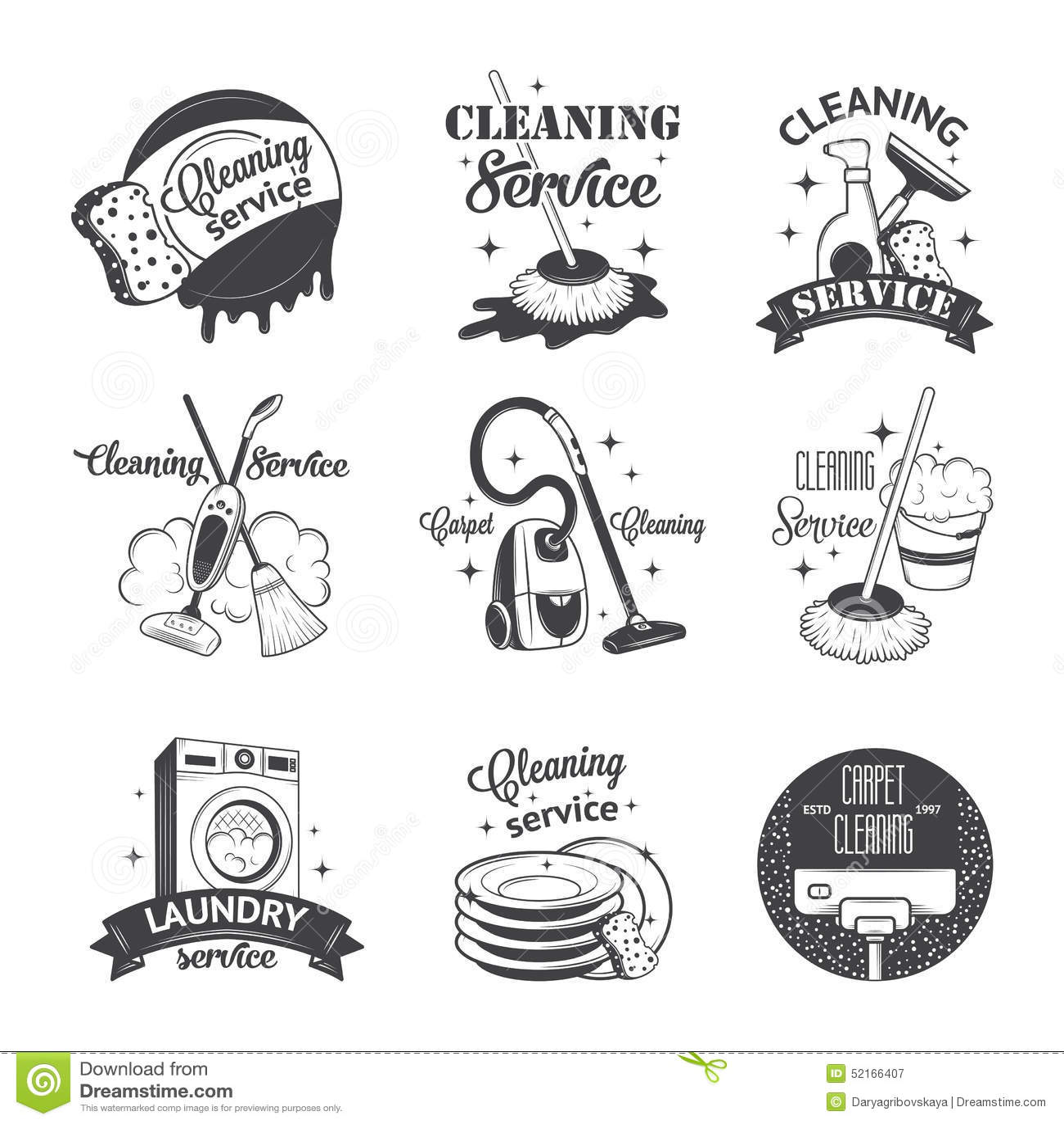 Ensemble De Logos De Vintage De Labels Et De Nettoyage D