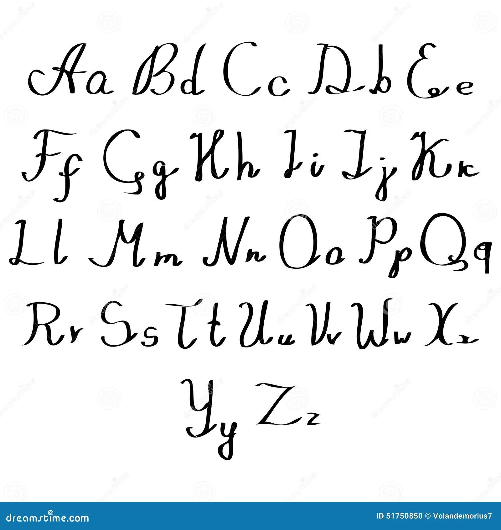 Fancy Writing Styles Cursive Alphabet