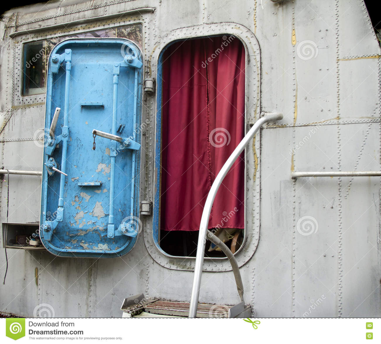entrance to the wheelhouse of the old military boat stock image image of passage boat 71606823