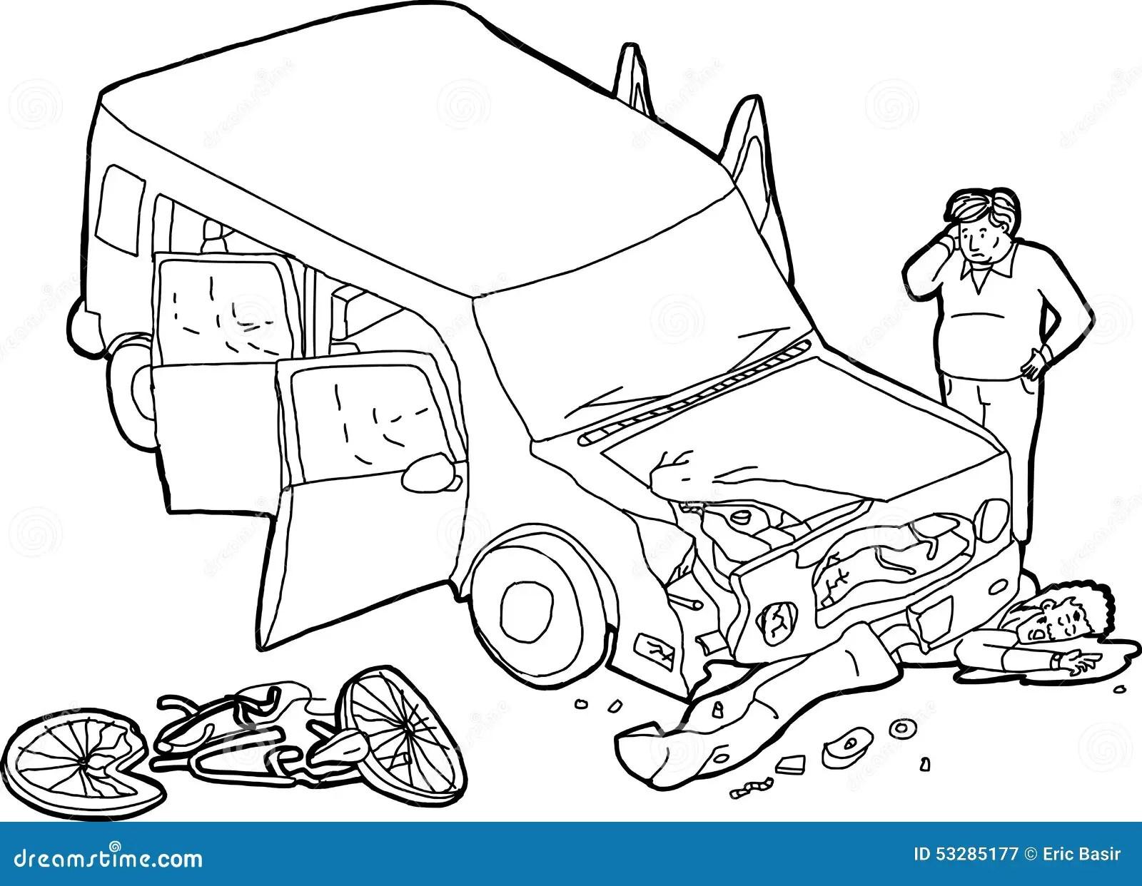 100 wrecked car drawing car crash accident damaged