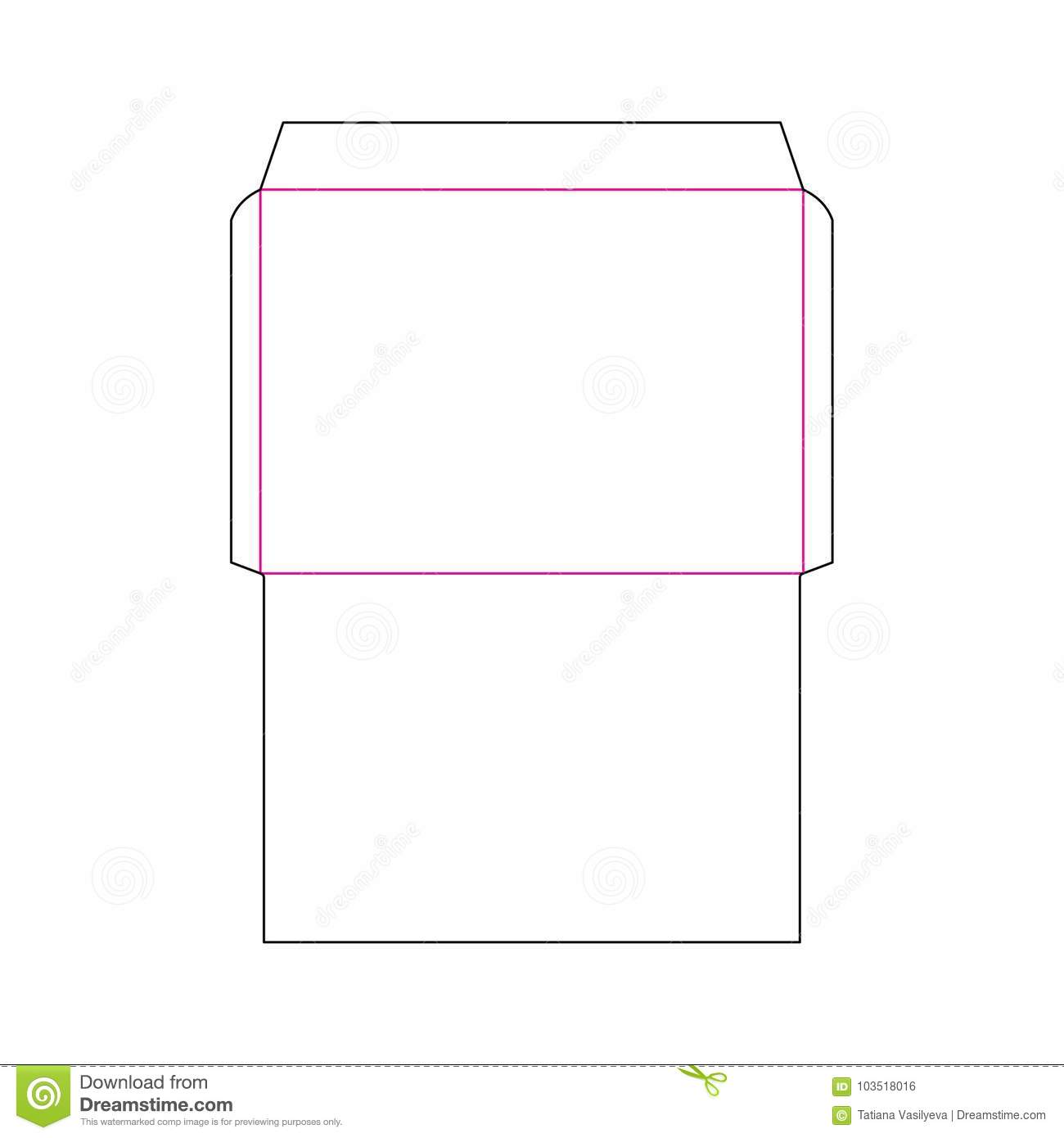 Envelope C4 Size Template Stock Vector Illustration Of
