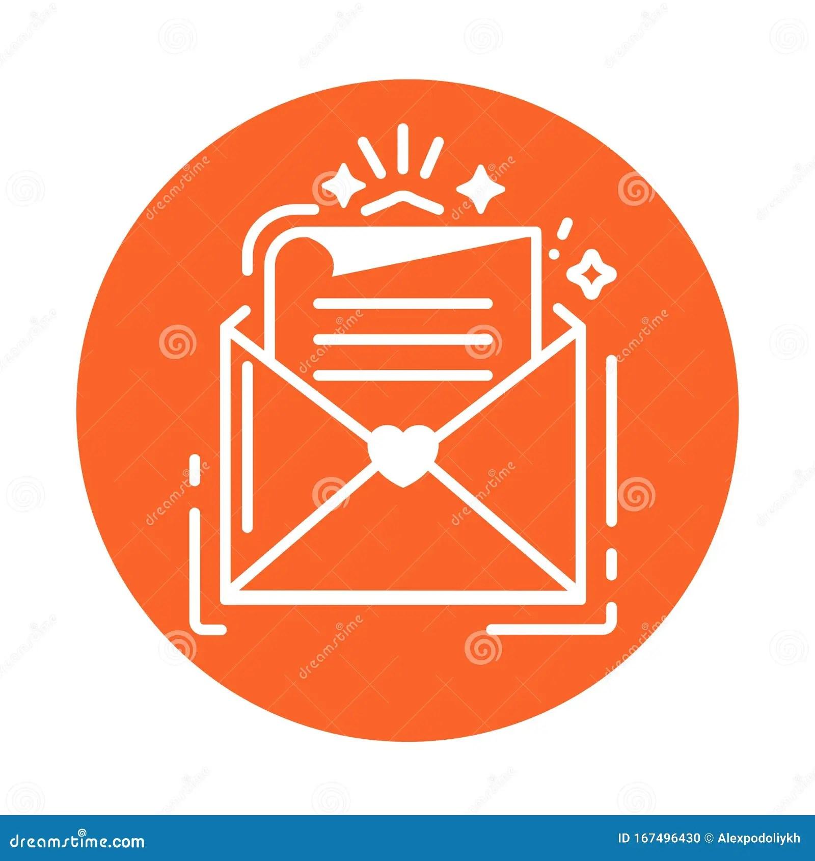 https www dreamstime com envelope letter line color icon wedding invitation concept felicitation sign web page mobile app banner social envelope image167496430