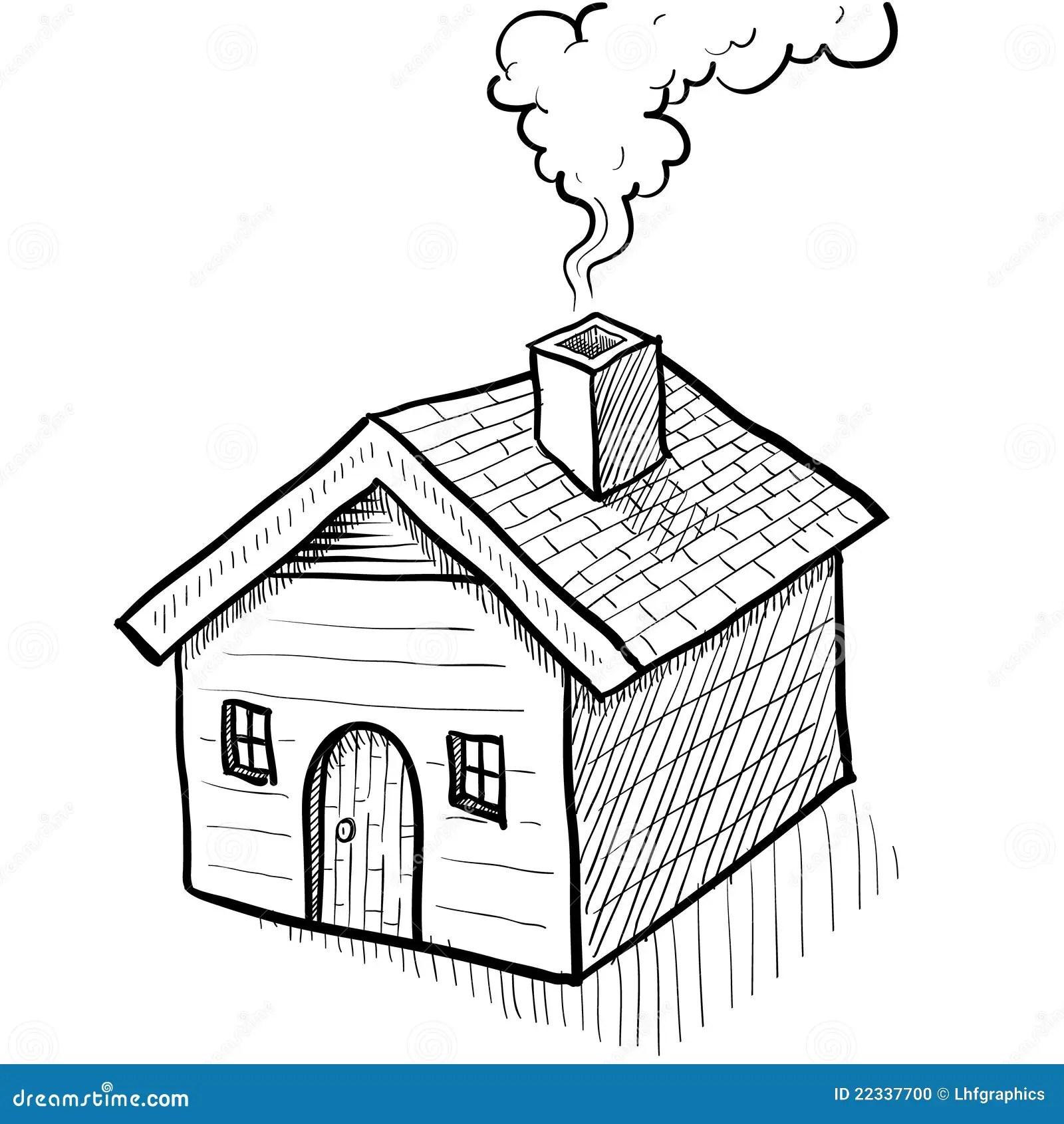 Esboco Comfy Da Casa Ilustracao Do Vetor Ilustracao De