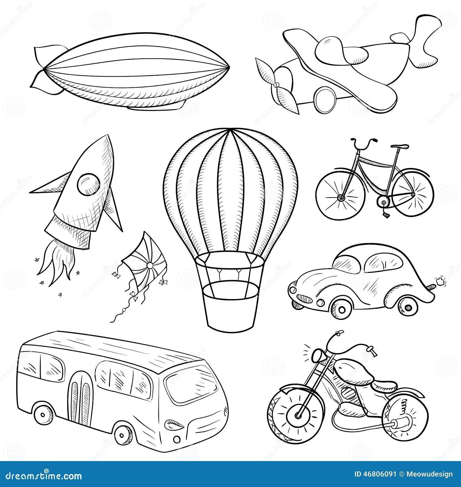 Esboca O Meio De Transporte Ilustracao Do Vetor