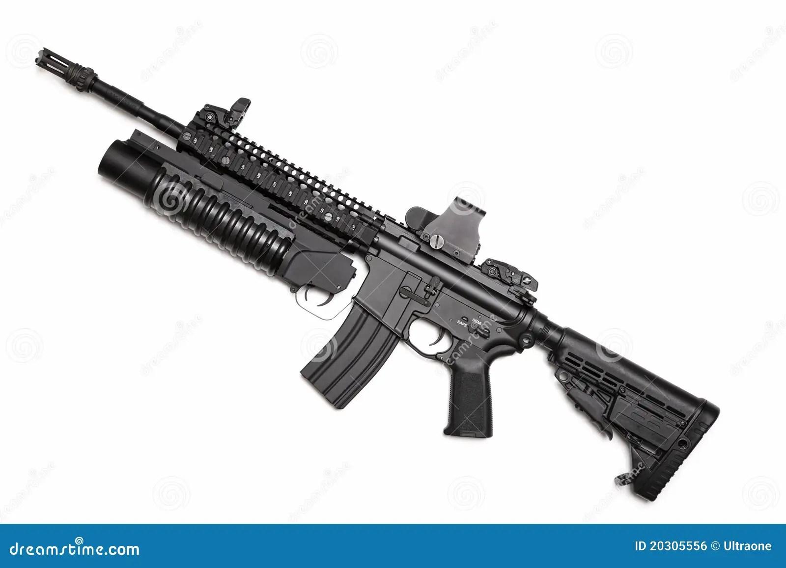 Espingarda De Assalto Das Especs Ops M4a1 Dos E U Foto