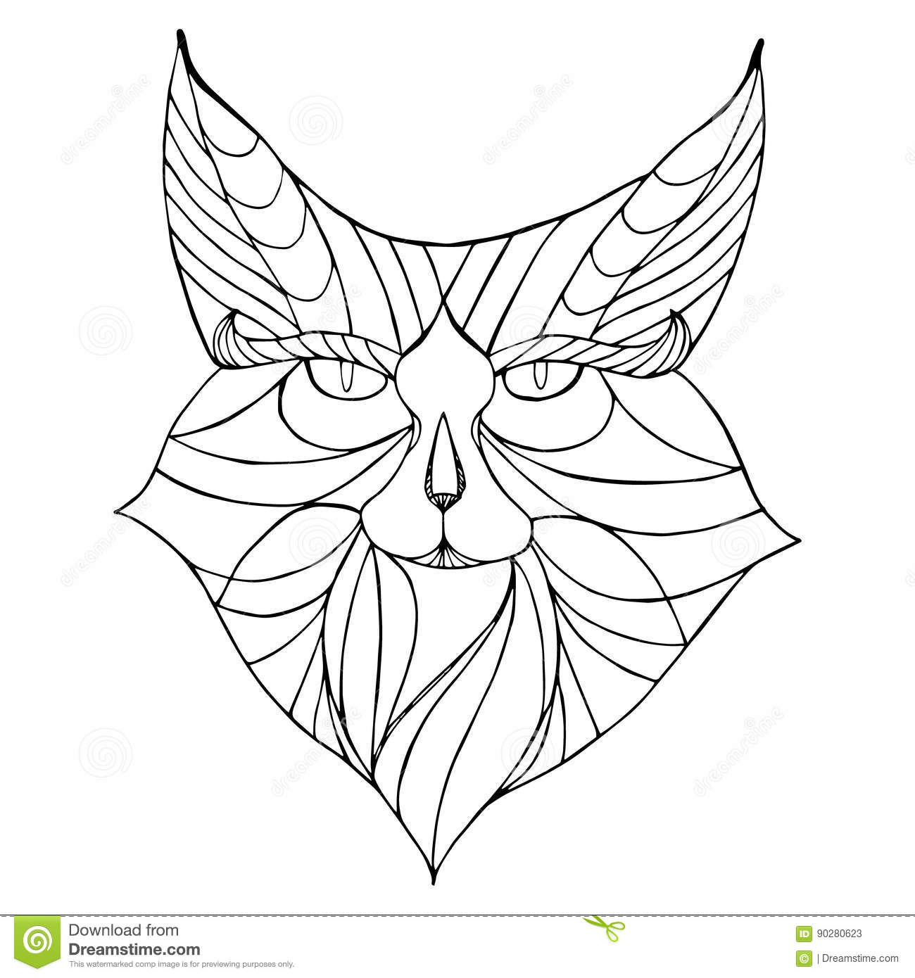 Coloring African Animals 2 Vector Illustration