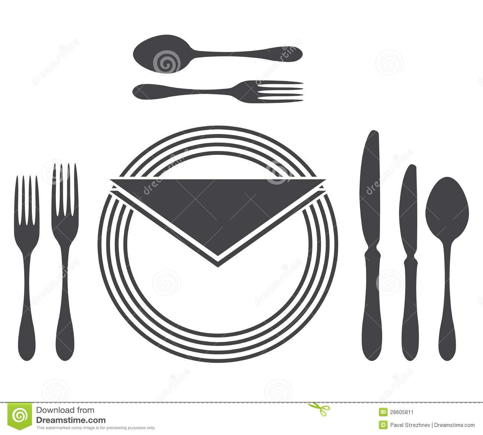 Etiquette Proper Table Setting Stock Image