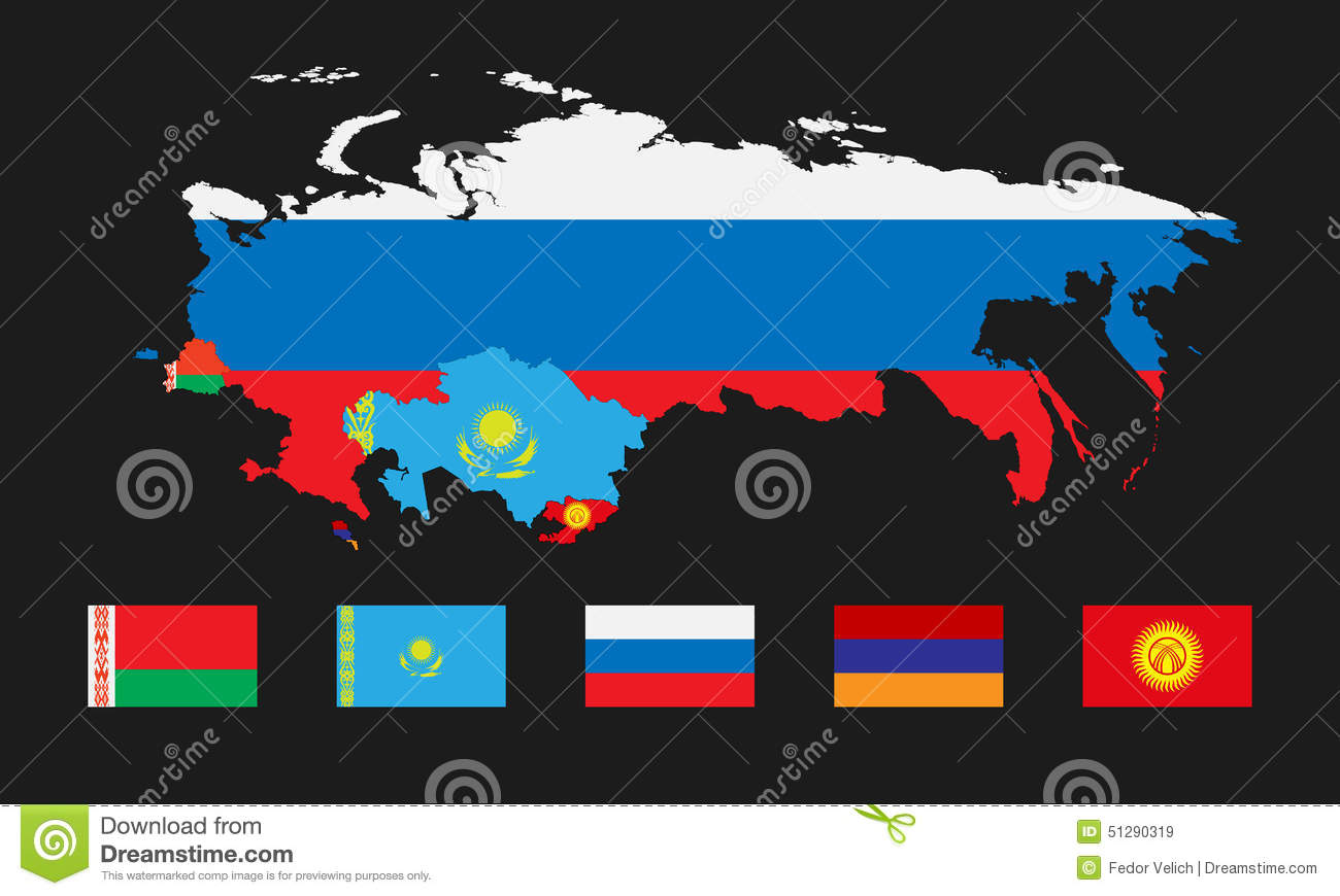 eurasian economic union  stock vector image