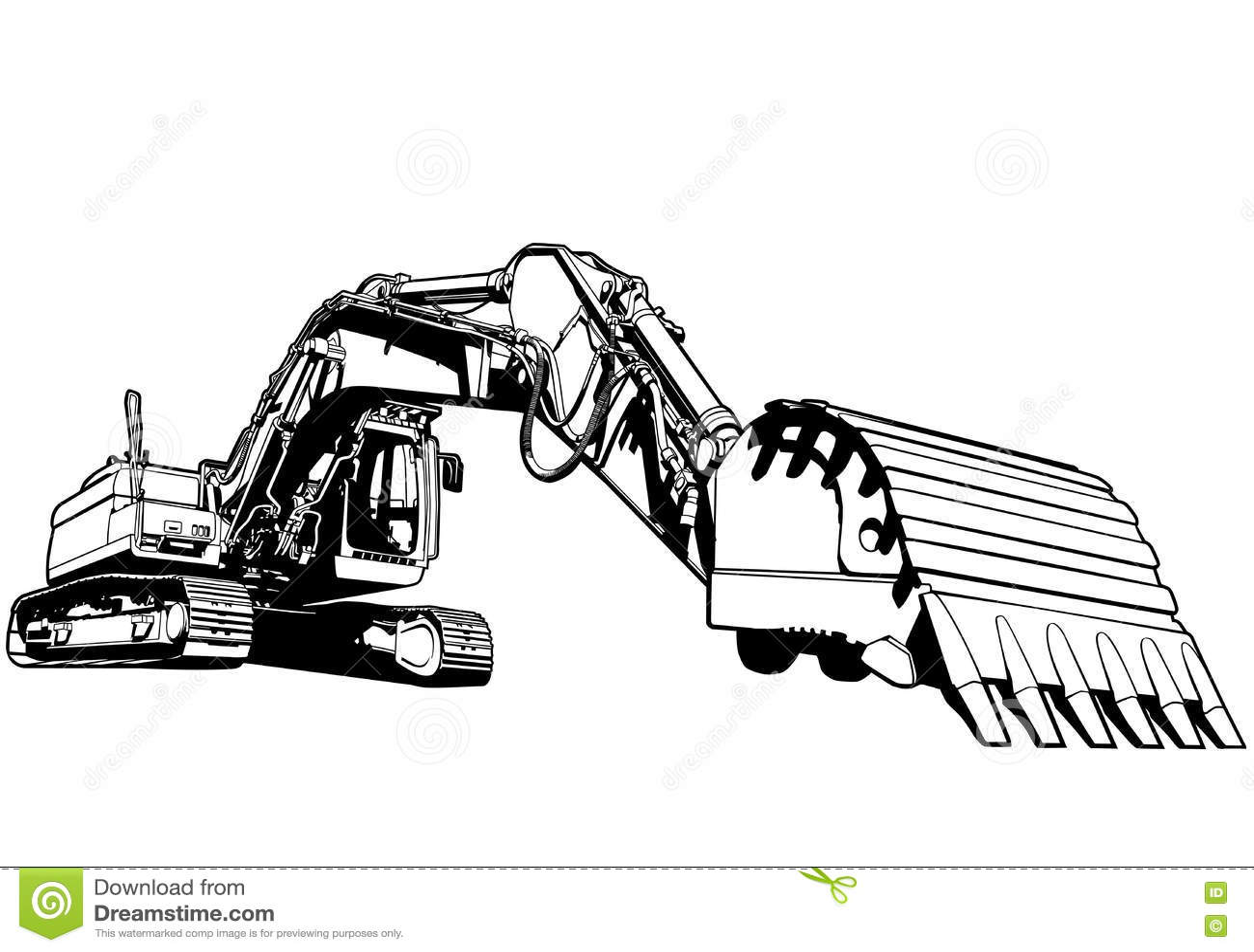 Excavator Illustration Stock Vector Illustration Of