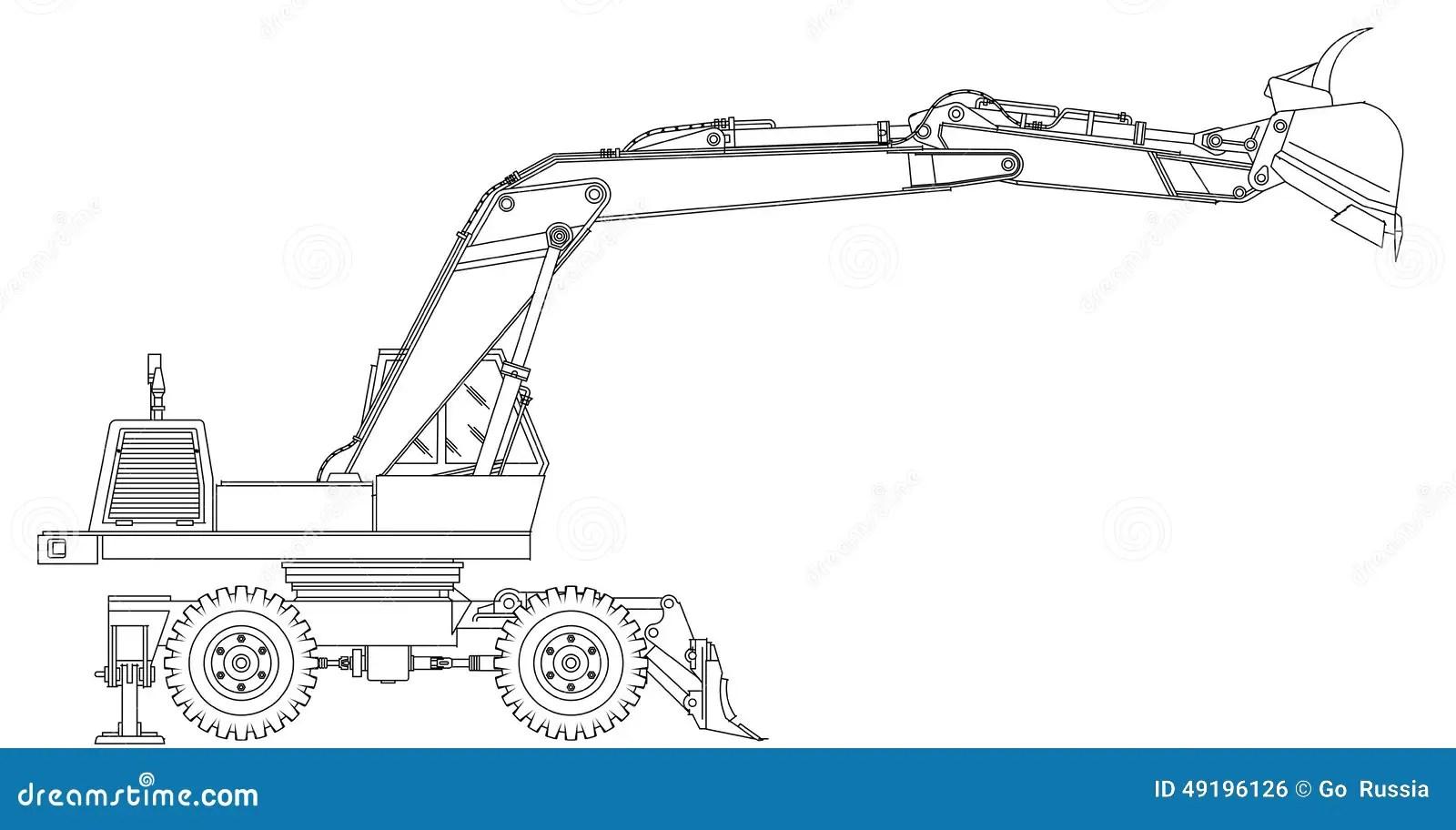 Excavator Stock Illustration Image 49196126