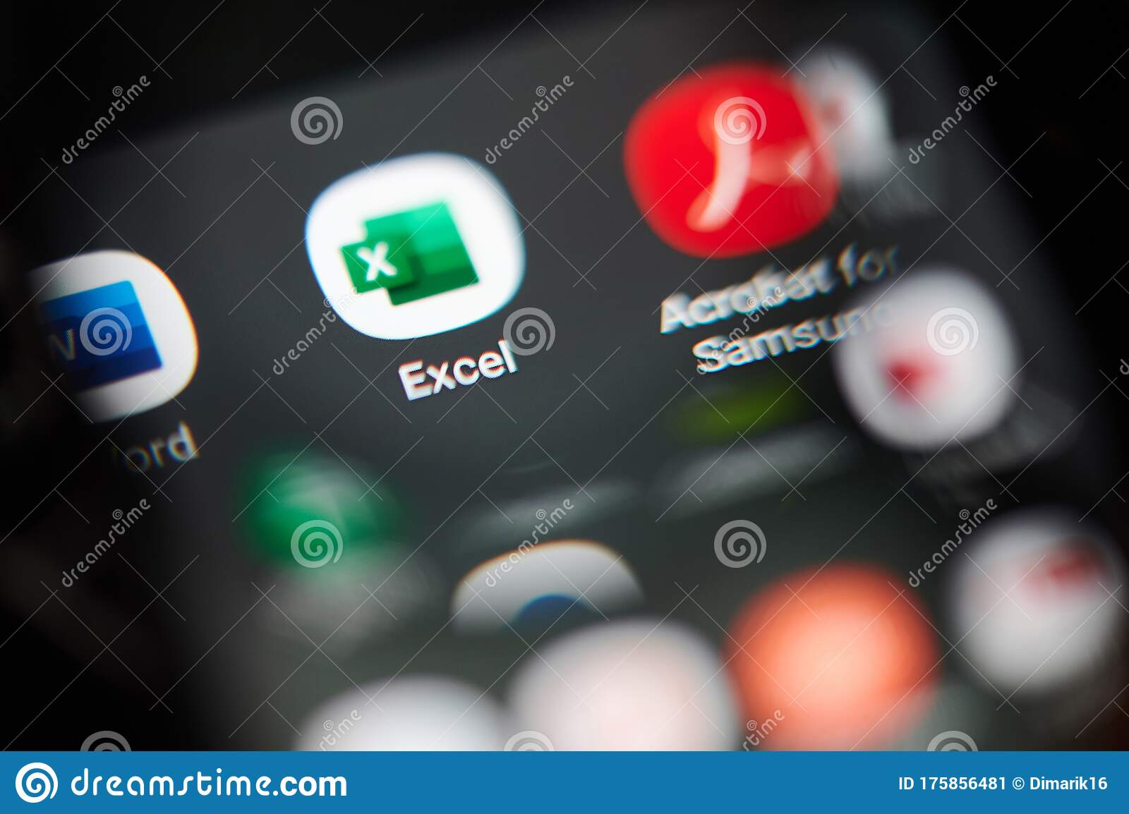 Excel Application Icon View Throw Magnifier Editorial