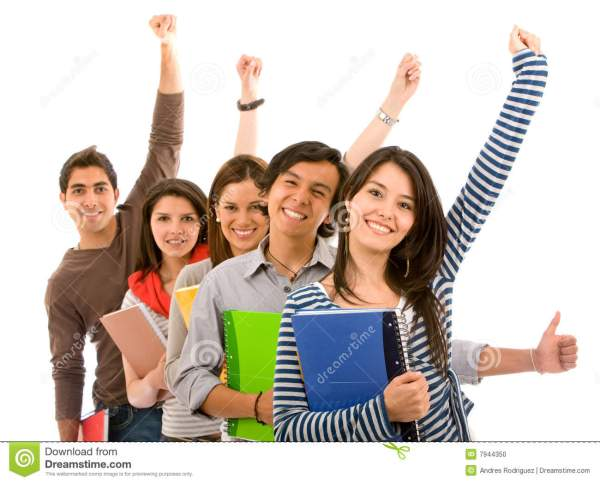 Excited students stock photo. Image of team, people ...