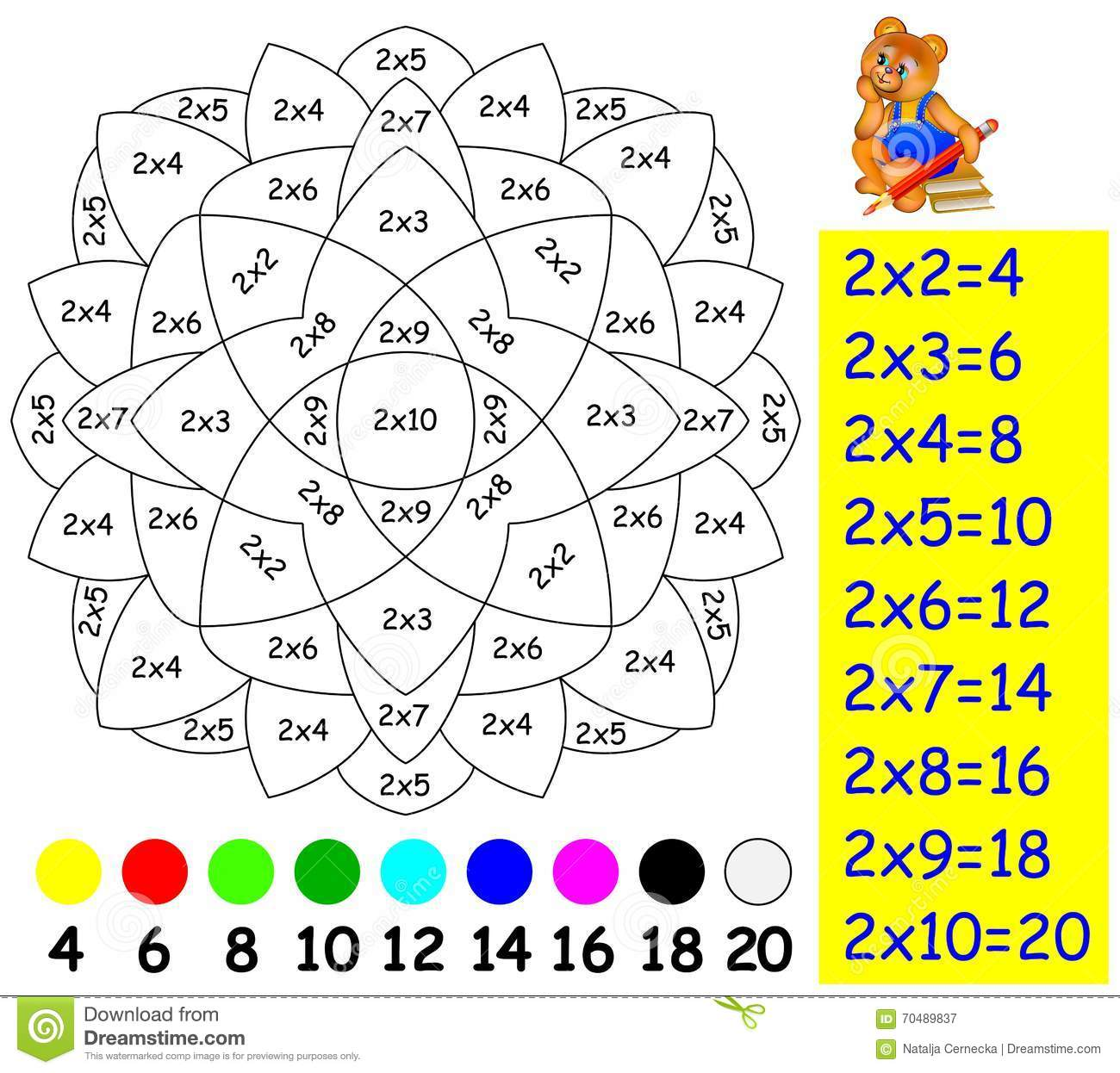 Exercise For Children With Multiplication By Two