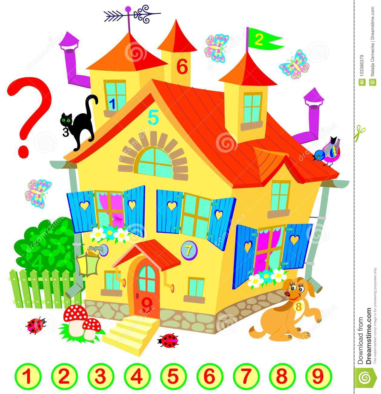 Exercise For Young Children Need To Find The Numbers