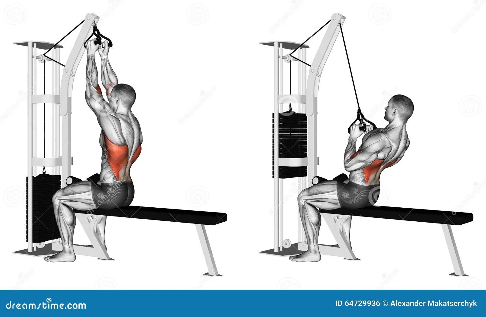 Exercising Thrust Of The Upper Block Parallel Grip Stock