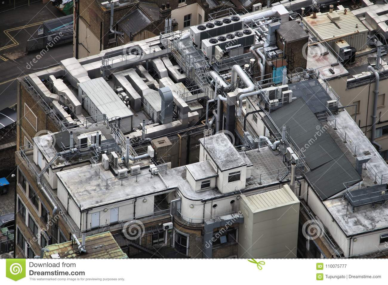 https www dreamstime com exhaust vents industrial air conditioning ventilation units building roof top london uk hvac climate control image110075777
