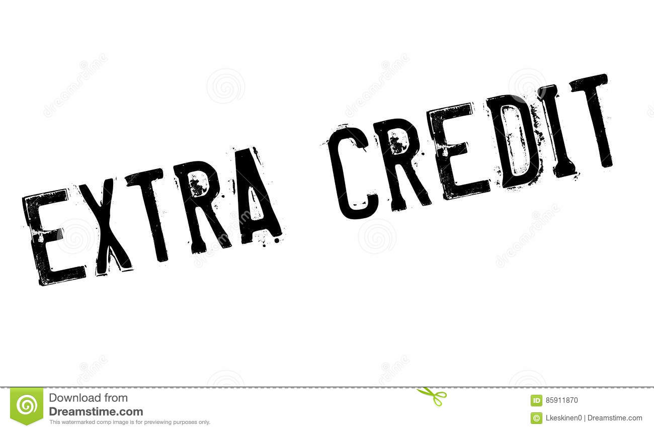 Extra Credit Rubber Stamp Stock Illustration
