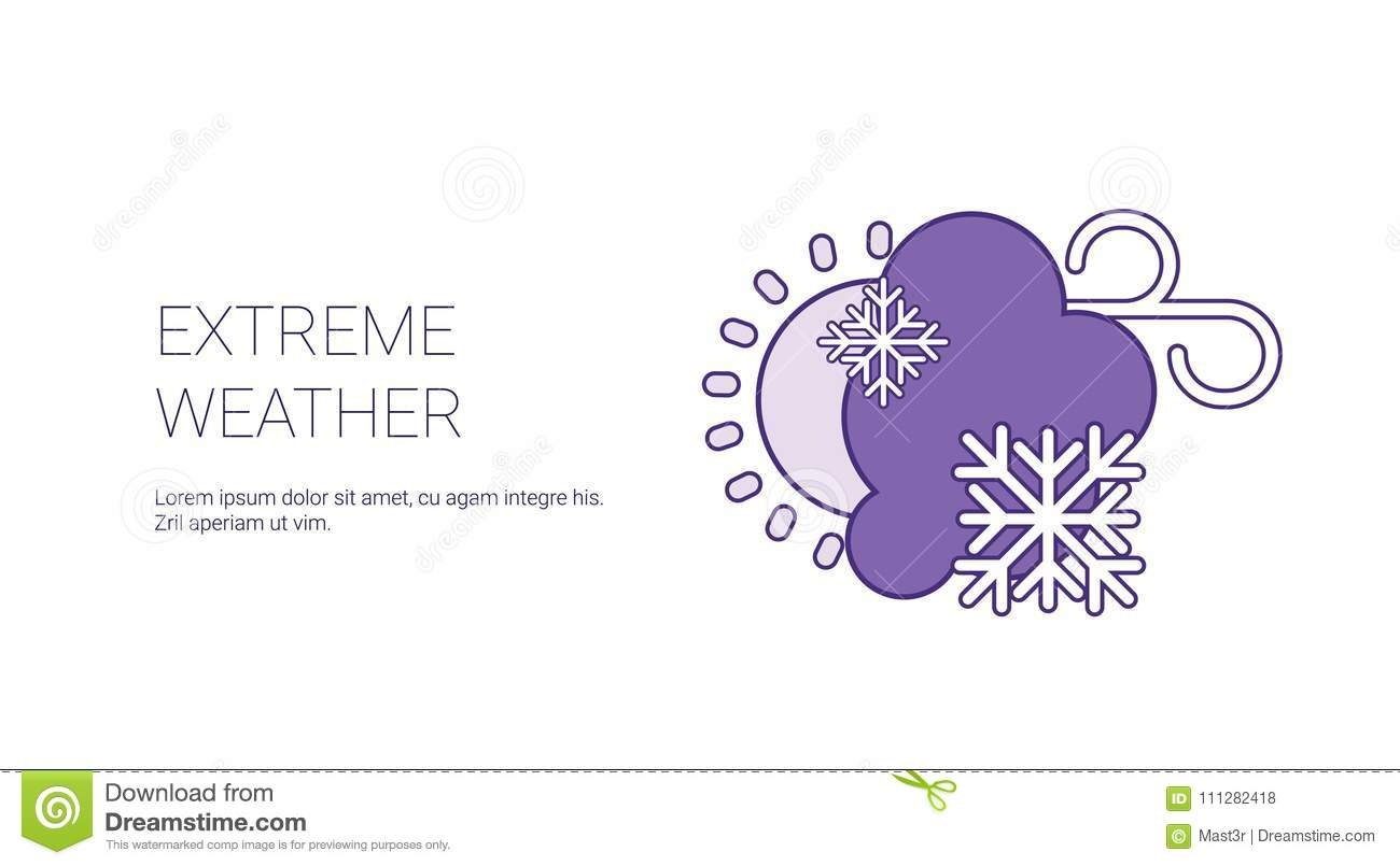 Extreme Weather Conditions Template Web Banner With Copy