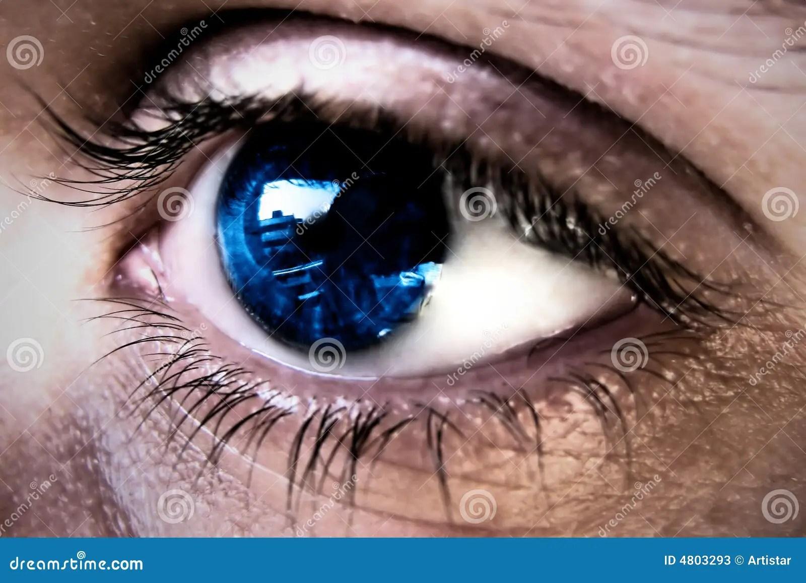 Eye Reflection Stock Image Image Of Cara Reflection