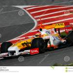 F1 2009 Fernando Alonso Renault Foto De Stock Editorial Imagem De Renault Alonso 10635998