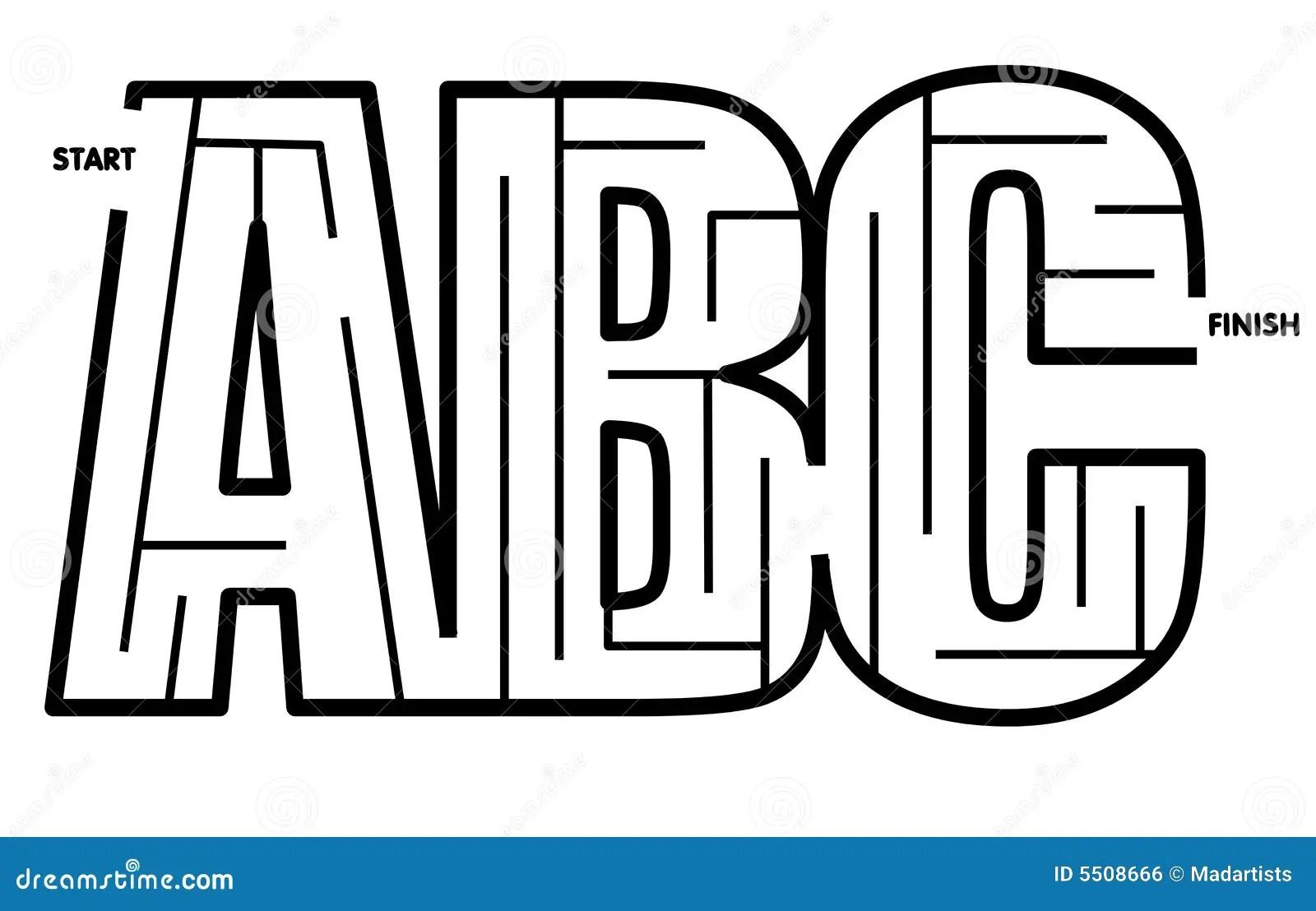 Facile De Resoudre Le Labyrinthe D Abc Image Libre De