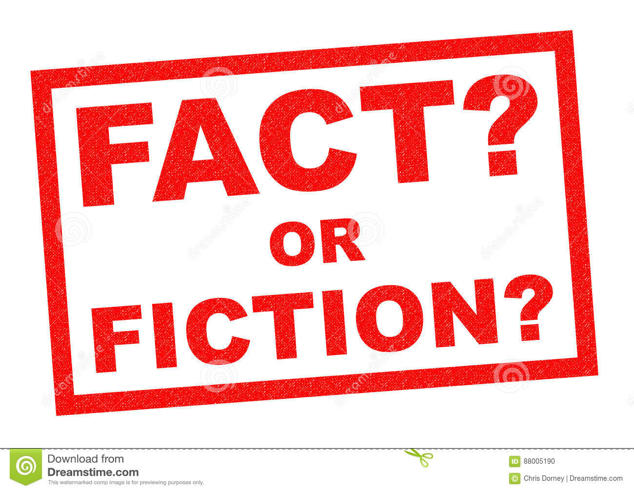 Fact Or Fiction Stock Illustration Illustration Of