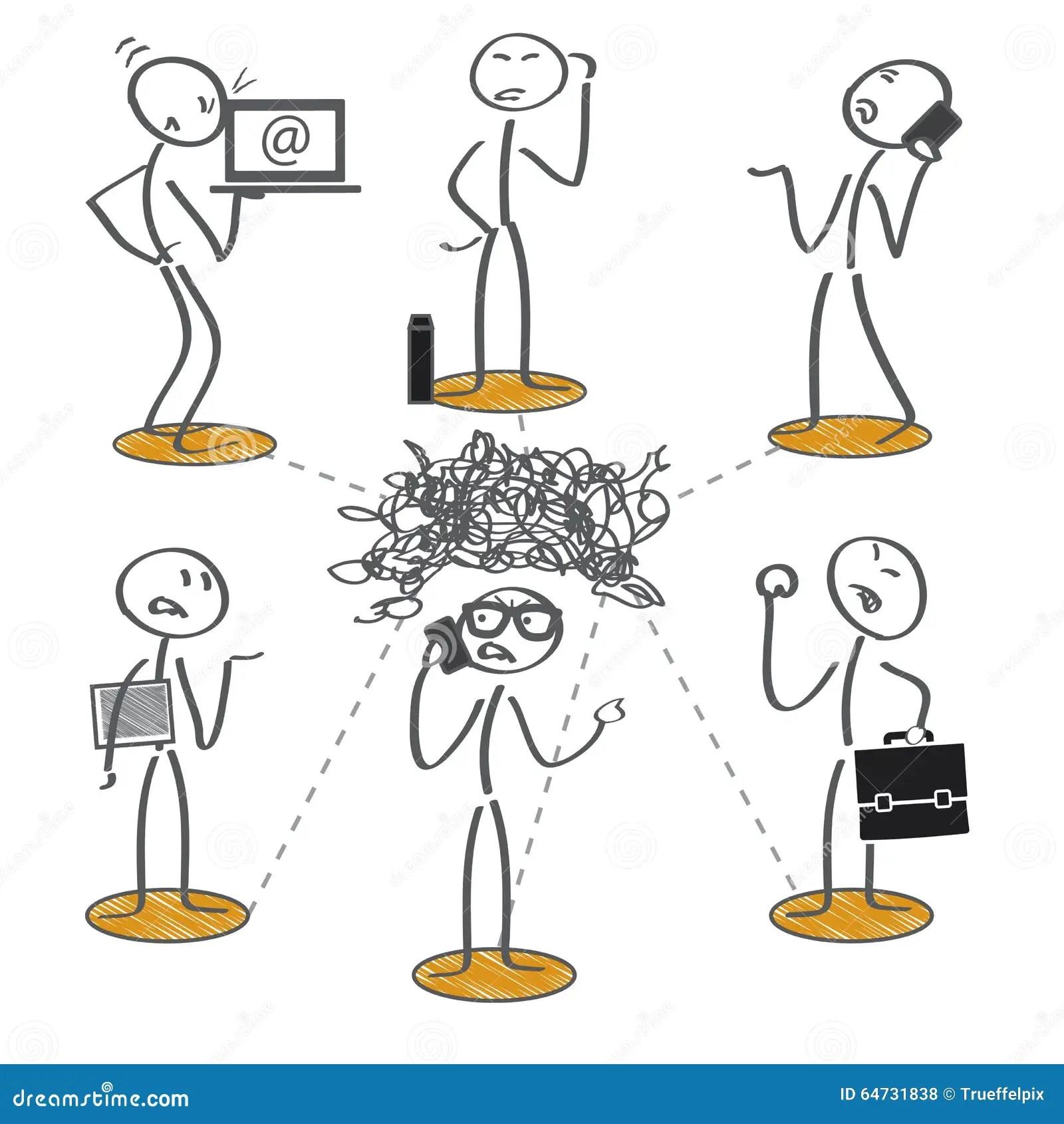Failed Communication Stock Illustration