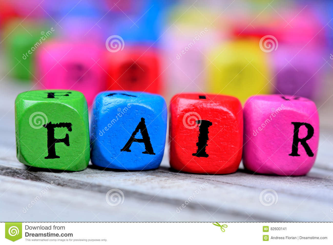 Fair Word On Table Stock Image Image Of Business
