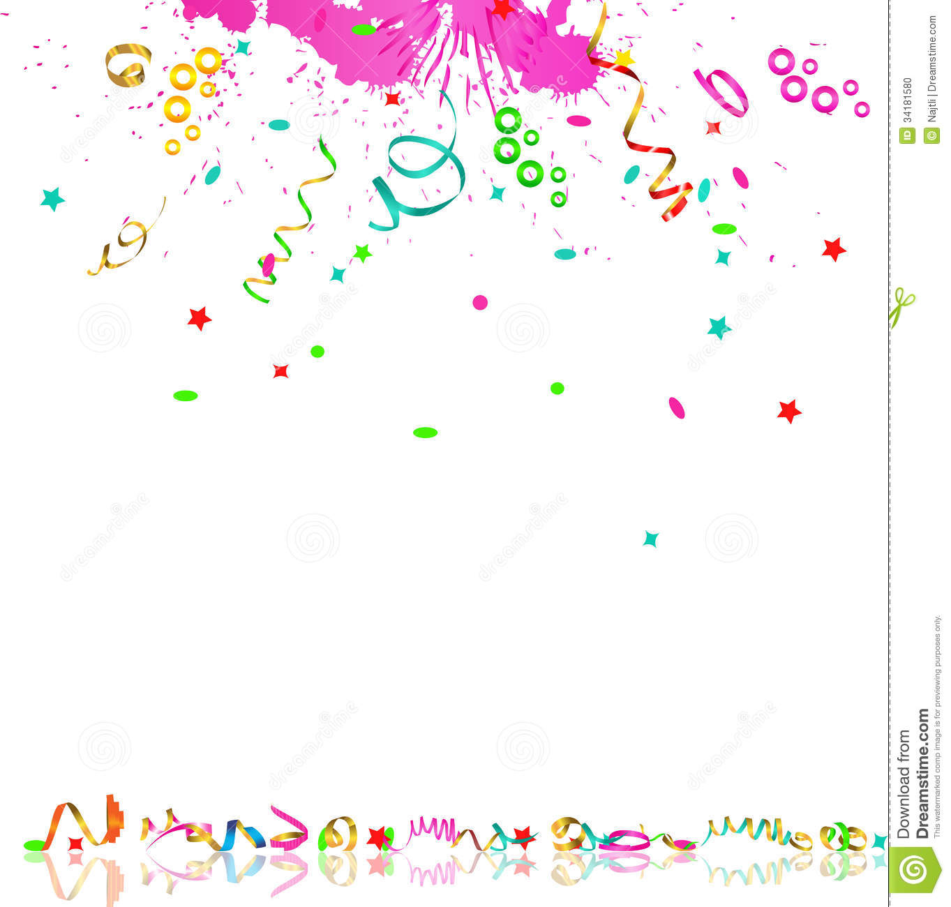 Falling Streamers And Confetti Stock Photo Image 34181580