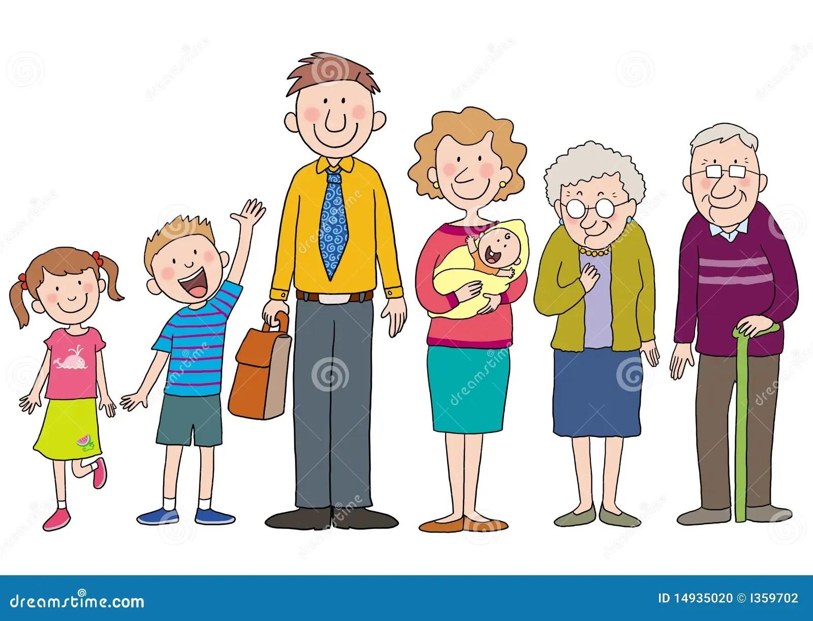 Familia Stock De Ilustracion Ilustracion De Amor