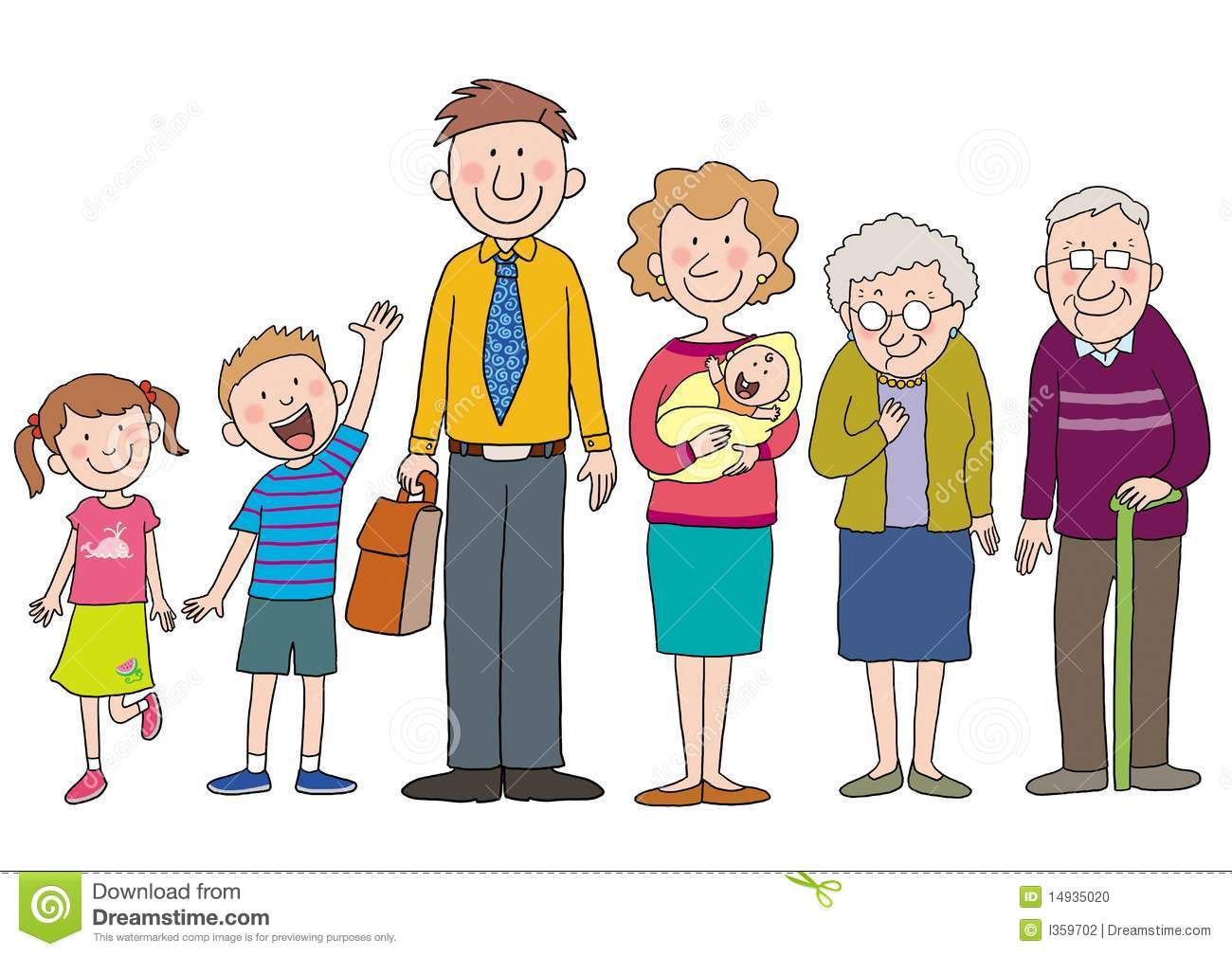 Famille Illustration Stock Illustration Du Gosses Mere