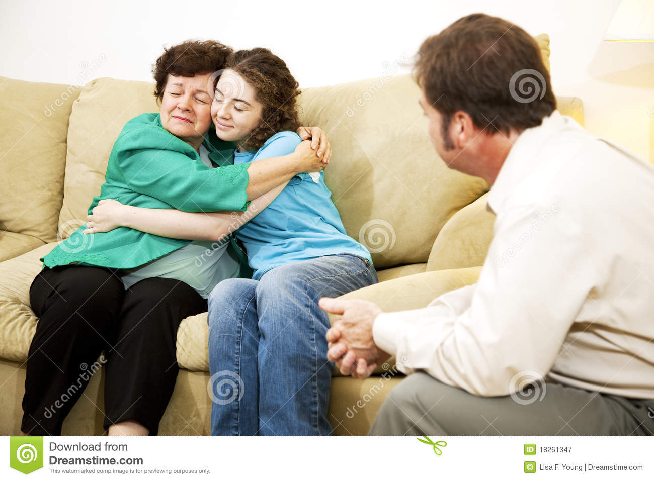 Family Conflict Resolution Stock Image Image Of